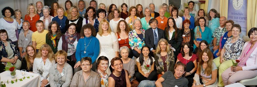 Schüler- und Absolvententreffen der École San Esprit am 19.09.2014 vor DO UT DES mit den internationalen Gästen Yasuyuki Nemoto, Akiko Stein, Katie Fisher und Robin Johnson